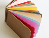 Rainbow Eco Notepads -  Recycled Sketchpads -  Eco-friendly  notepads, pocket jotters great for making to-do lists
