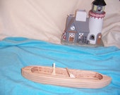 Large Toy Canoe Handcrafted from Reclaimed Wood for the Little Kids