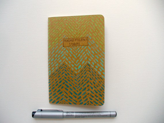 illustrated moleskine pocket notebook for your magnificent ideas