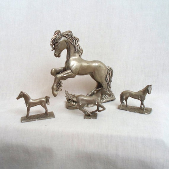 Miniature Pewter Horse Collection