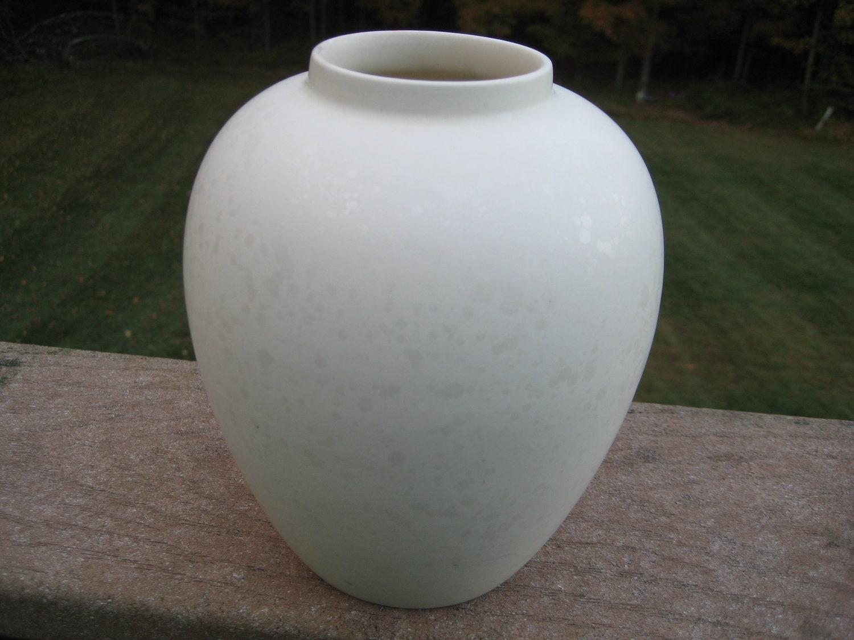 White Poole Pottery Vase Marked Poole England