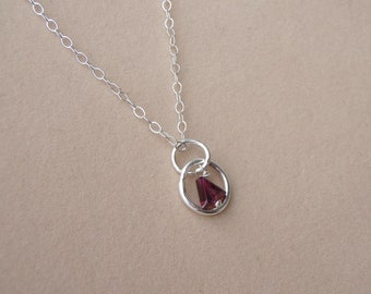 Recovery Pendant in Silver and Garnet