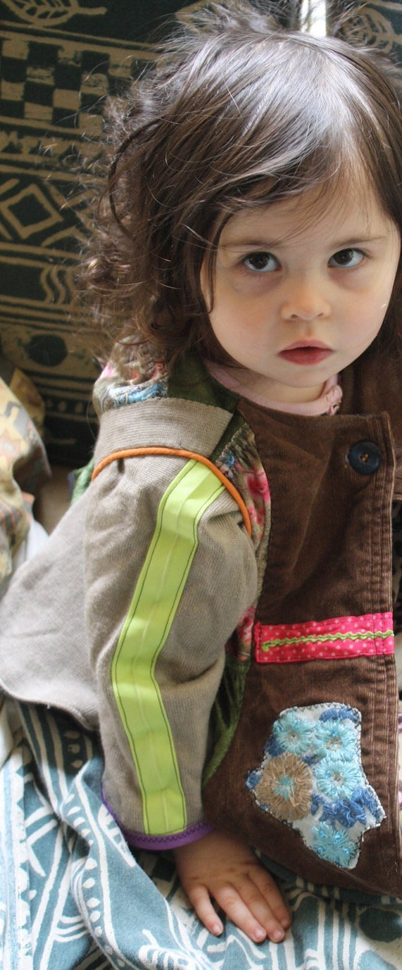 Girl's Gypsy Jacket, Eco Friendly, Upcycled, One of a kind
