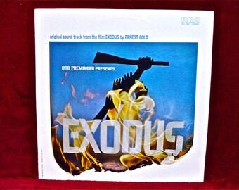EXODUS - Original Motion Picture Soundtrack - 1960 Vintage Vinyl Record Album