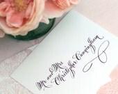 Wedding Calligraphy Envelope Addressing--The Eloise Font