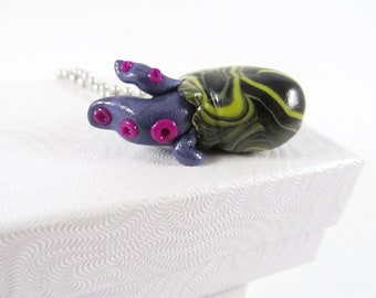 Purple Alien Tentacle Egg Necklace