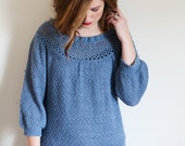 Knit Bohemian Blue Sweater