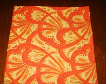 Sale...Dinner Napkins...4 Large...Yellow and Red...17 inches...Stitched Hems Not Serged...FREE SHIPPING