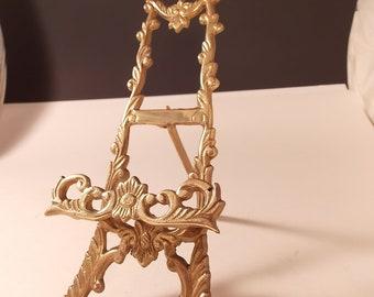 Ornate Vintage Victorian  Brass Easel