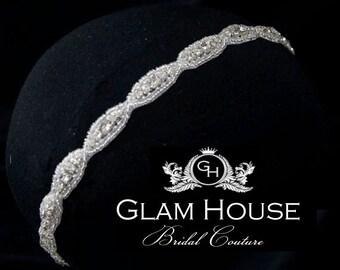 Wedding headband, Bridal Crystal Headband, Bridal Headpiece, Wedding Headband,headband,Wedding Head Piece, Crystal Headband