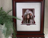 Photo Frame Free Standing with Victorian Hand Cut Mat