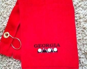 Clearance Sale - Georgia Golf personalized Golf Towel