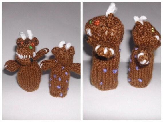 PDF Knitting pattern Gruffalo Finger puppets for charity ...