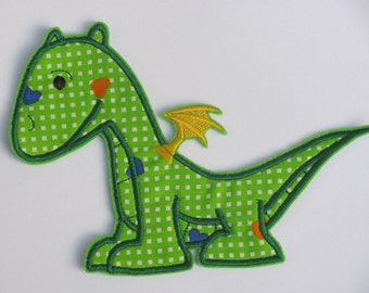 Dragon - machine embroidery fill stitch and applique design s- multiple sizes for hoop 4x4, 5x7 and 6x10 INSTANT DOWNLOAD