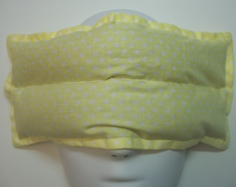 Herbal Hot/Cold Aromatherapy Therapy Eye Pillow Polka Dots Yellow