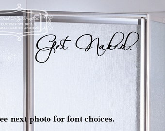 Get naked vinyl decal 8 designs to choose from