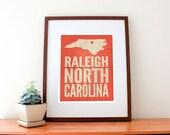 Raleigh, North Carolina Love Print
