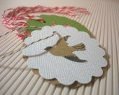 100 Shabby Chic Tags, Rustic Paper Dove Tags, 100 Custom Crafted Tags