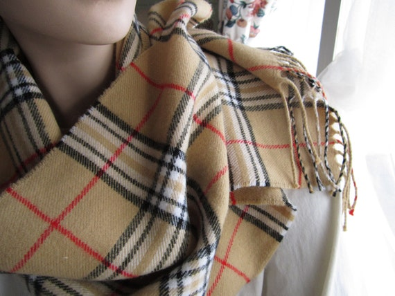 burberry print scarf made in scotland of