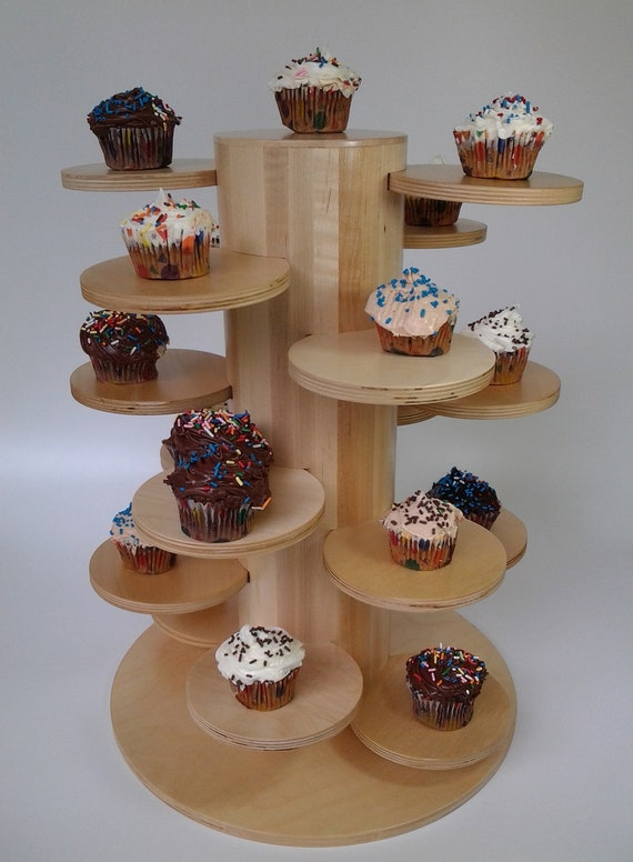 Items Similar To Cupcake Wedding Tree Display Wood Serving