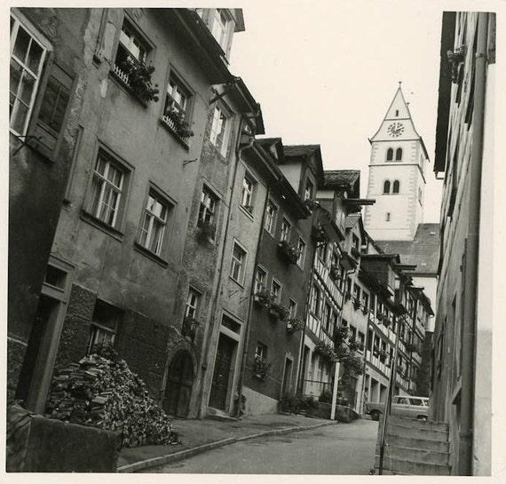 "Vintage Photo ""Empty Street"", Photography, Paper Ephemera, Snapshot, Old Photo, Collectibles - 0078"