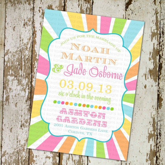 rainbow gay wedding 1st birthday rainbow invitation little girl 1st birthday invitation circus birthday coed party 302 Katiedid Designs