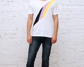 Cut and stitched tee. Made in Brooklyn NY.