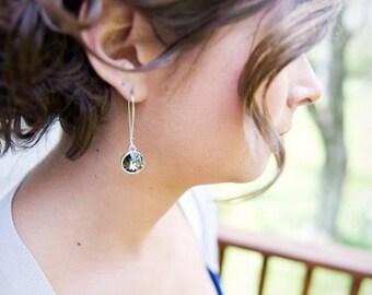Handmade Bridesmaid Swarovski Crystal Earrings- 5 pairs