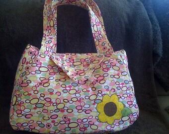 Pink Patterened Shoulder Bag