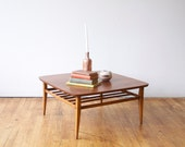 RESERVED Mid Century Lane Square Coffee Table - 50s 60s - Danish Style