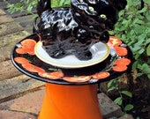 Halloween Black Kitten Garden Totem  - As Featured in Valley Homes & Style Magazine