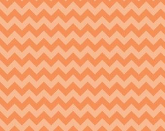 1 Yard of Small Chevron in Tonal Orange by Riley Blake