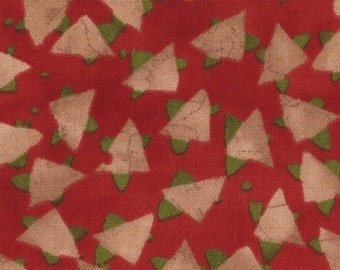 SALE Simple Marks Brick Red Modern Birds by Malka Dubrowsky for Moda