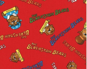 1 Yard of Bear Country School Red Names by Moda