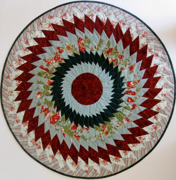 Quilted Table Topper, Christmas Medallion Sofa Throw