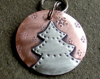 Chrismas Dog ID Tag- Christmas Tree