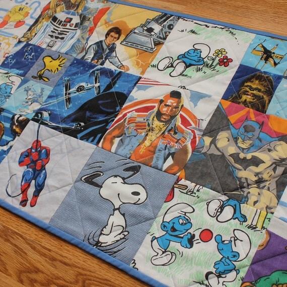 I Spy Cartoon Characters : Items similar to vintage cartoon character quot i spy quilted