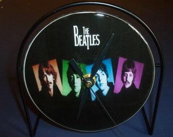 Beatles  Recycled CD Clock Art