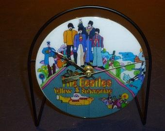 Beatles Yellow Submarine  Recycled CD Clock Art