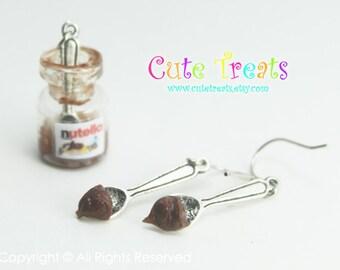 Nutella earrings (Dangle)