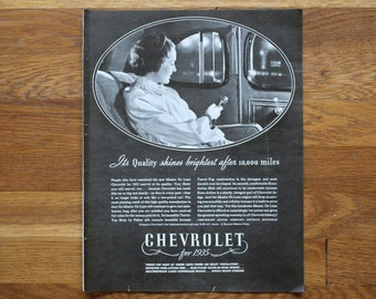 Vintage July 1935 Chevrolet Ad / Colgate Ad McCall's Magazine