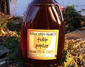 Pure Raw Ohio Tulip Poplar Honey -32 ounce jar