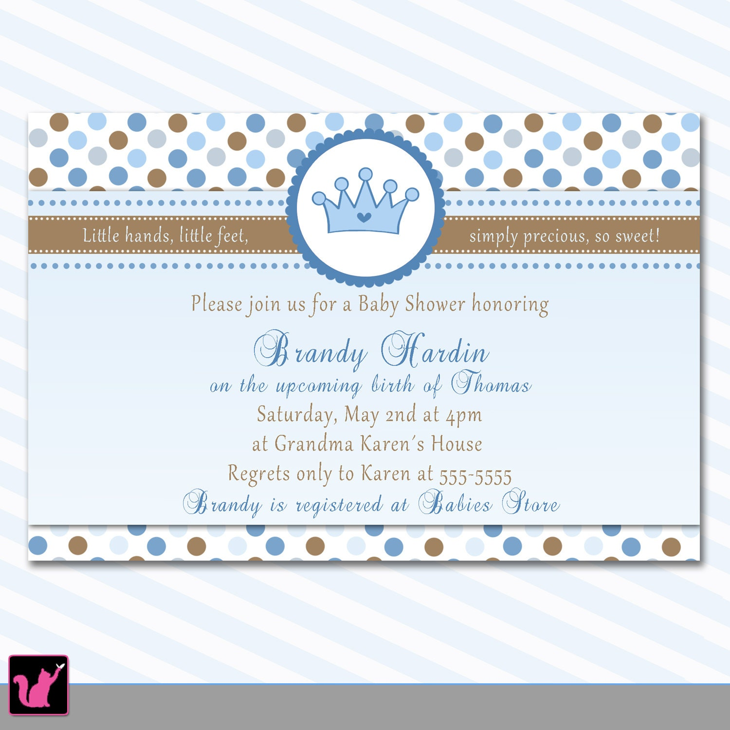 Prince Themed Baby Shower Invitations | wblqual.com