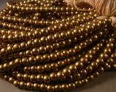 Round  Natural  Brass  Beads- Medium