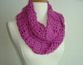 Funky Handmade Pink Crochet Scarf