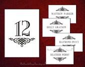 PRINTABLE Table Number Name Design Pdf DIY Wedding Decor Idea Setting Seating Sign Signage Unique Elegant Online Template Classic Decoration