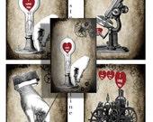 Steampunk Valentines  instant download
