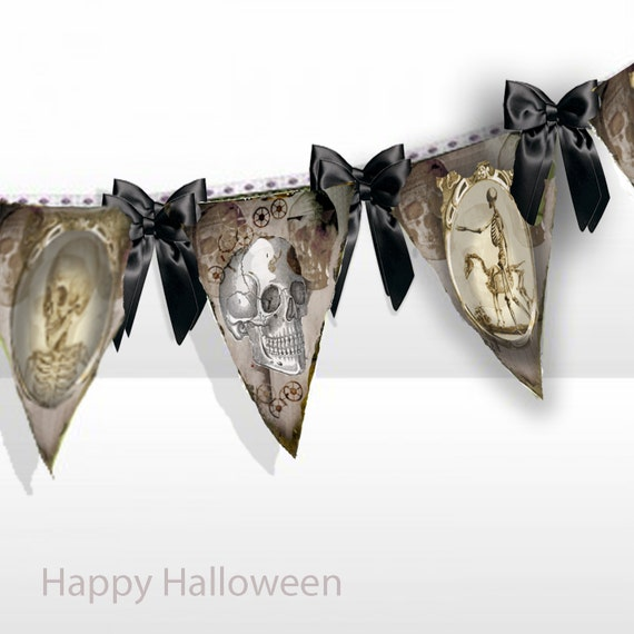 Printable Halloween Banner Flags
