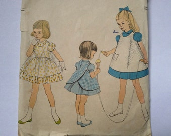 1950's one piece Girls dress and apron