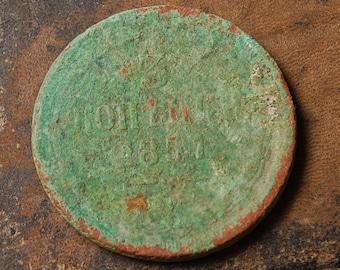 Imperial Russian copper 3 kopeck coin, 1800 kopecks, copecks, kopeyka